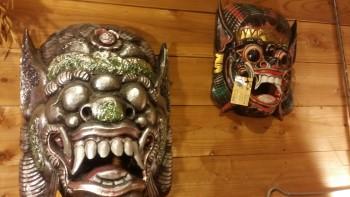 バリ島木彫り神様お面