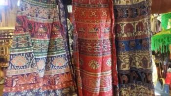 インド綿巻きスカート