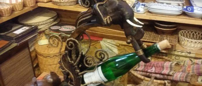 ゾウのワインホルダー