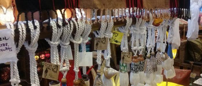 貝のカーテンタッセル