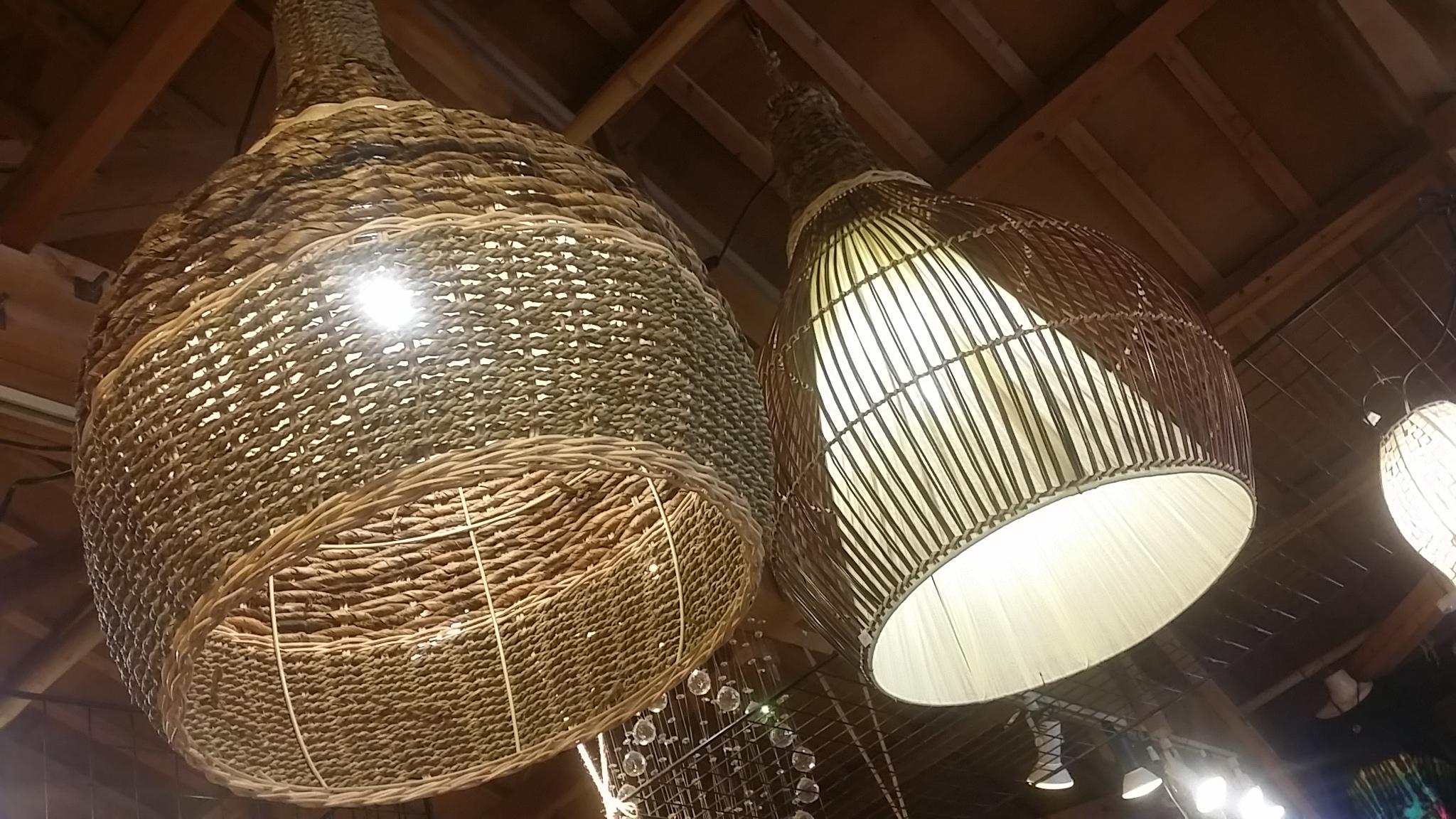 バリ島大型吊り下げランプ