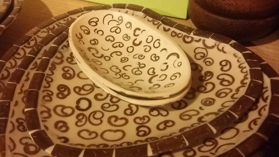 シナモンの香りココナツお皿