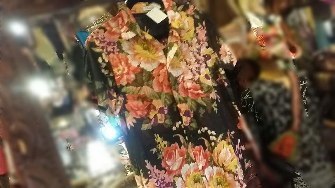 コットン花柄シャツ