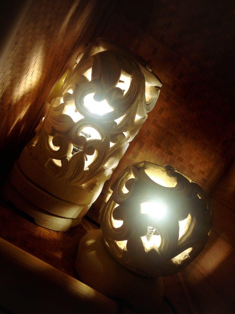 アジアンランプ ライムストーンランプ