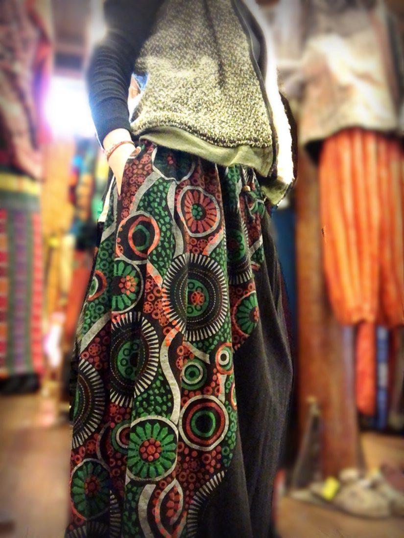 ネパールサイケデザインマシキスカート