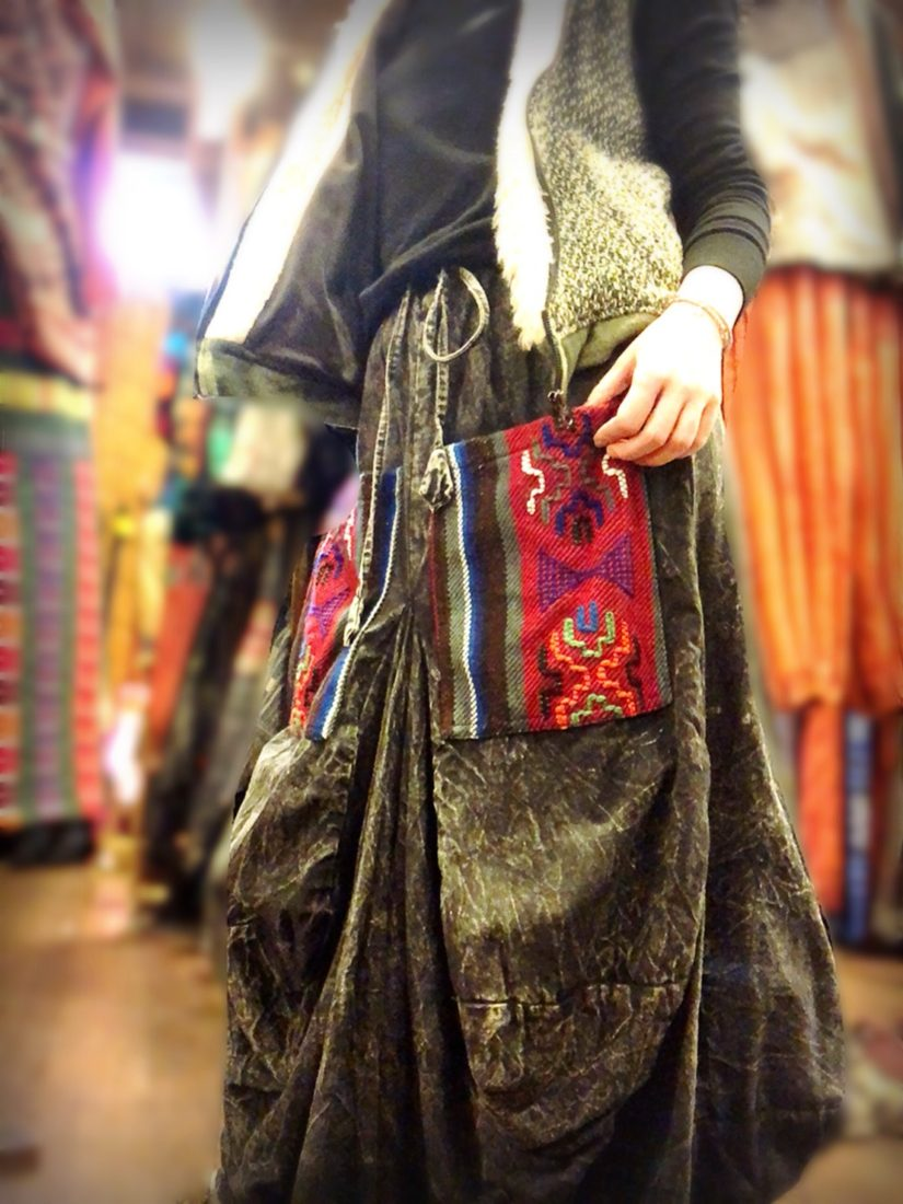 ネパールゲリコットン変形スカート