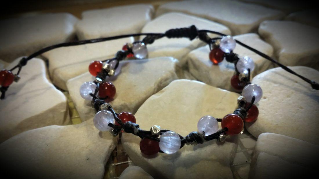 天然石とカレンシルバーのブレス