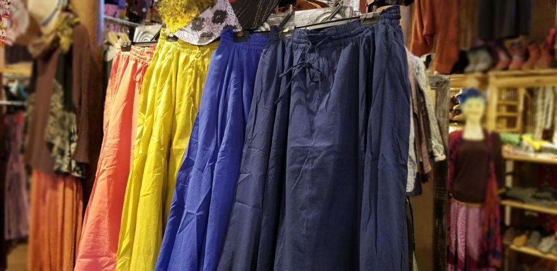インド綿無地スカート