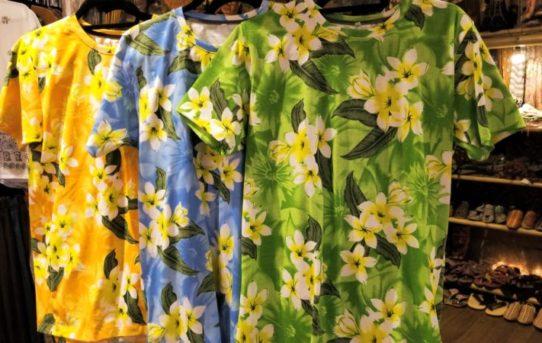 リゾート色満載の全柄Tシャツ