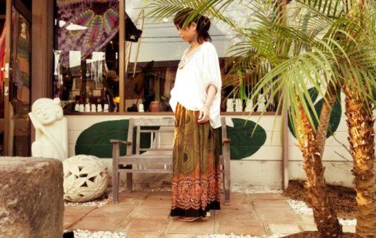 レーヨンフレアスカート!フェミニンなエスニックスタイル