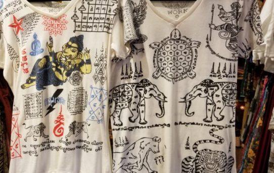 人気のタイの伝統のタトゥーサクヤン柄のTシャツ今年も入荷しました。