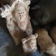 素焼ガネーシャ像