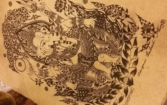 タイの縁起物版画