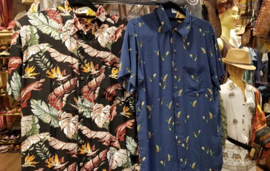 さら~っと羽織れるレーヨンアロハシャツ