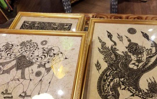 オススメ!タイの手すき紙版画!縁起物の版画