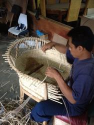 バリ島の編み系家具♪