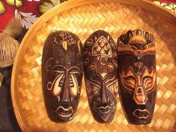 バリ島の『木彫プリミティブマスク』